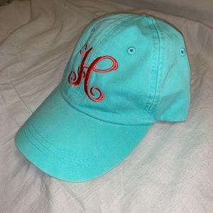 Women's monogram ball cap hat H
